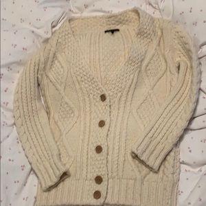 Maje Oversize chunky Cable knit cardigan
